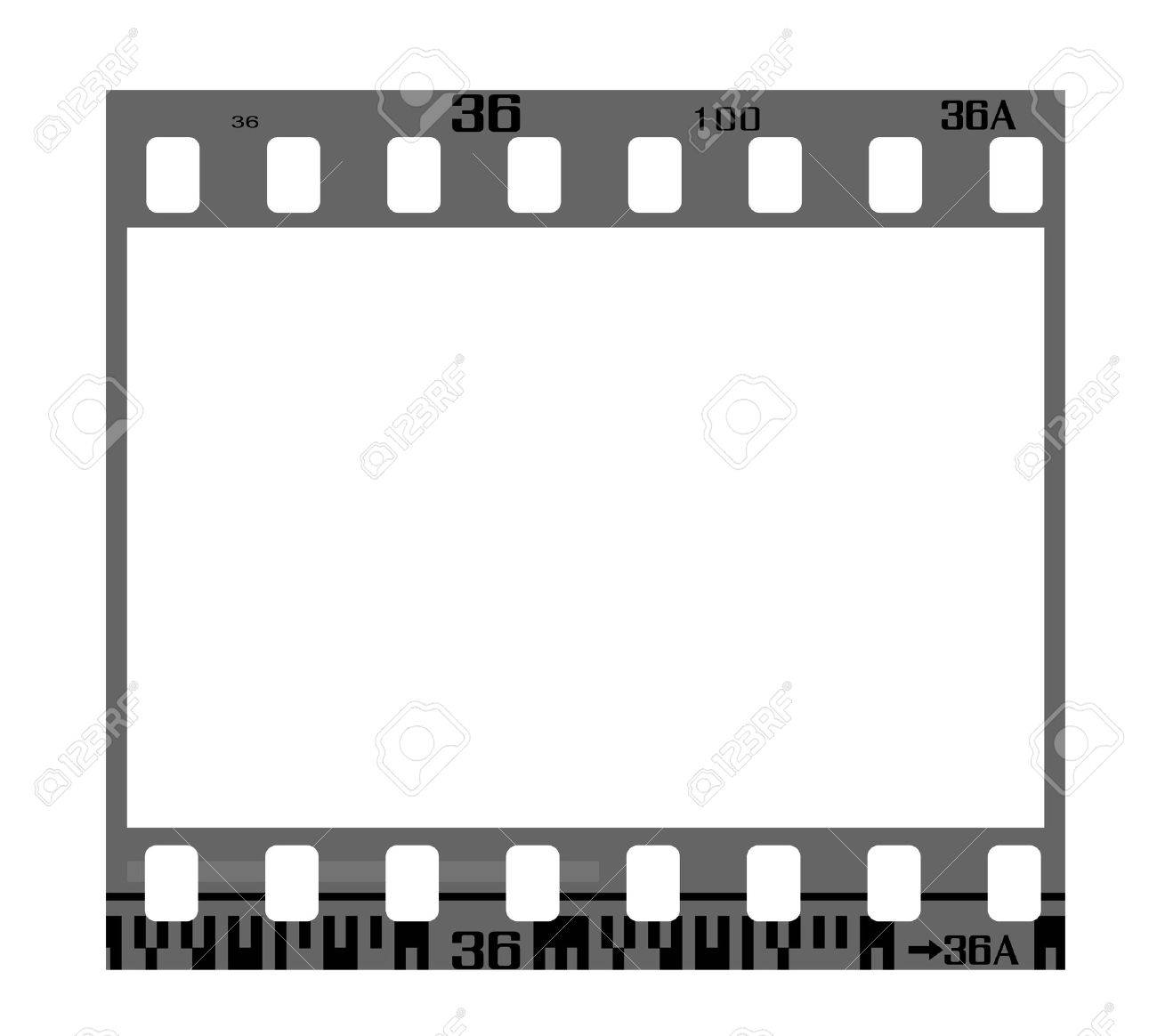 35mm negative frame, with details and accurate dimension. Stock Vector - 6818735