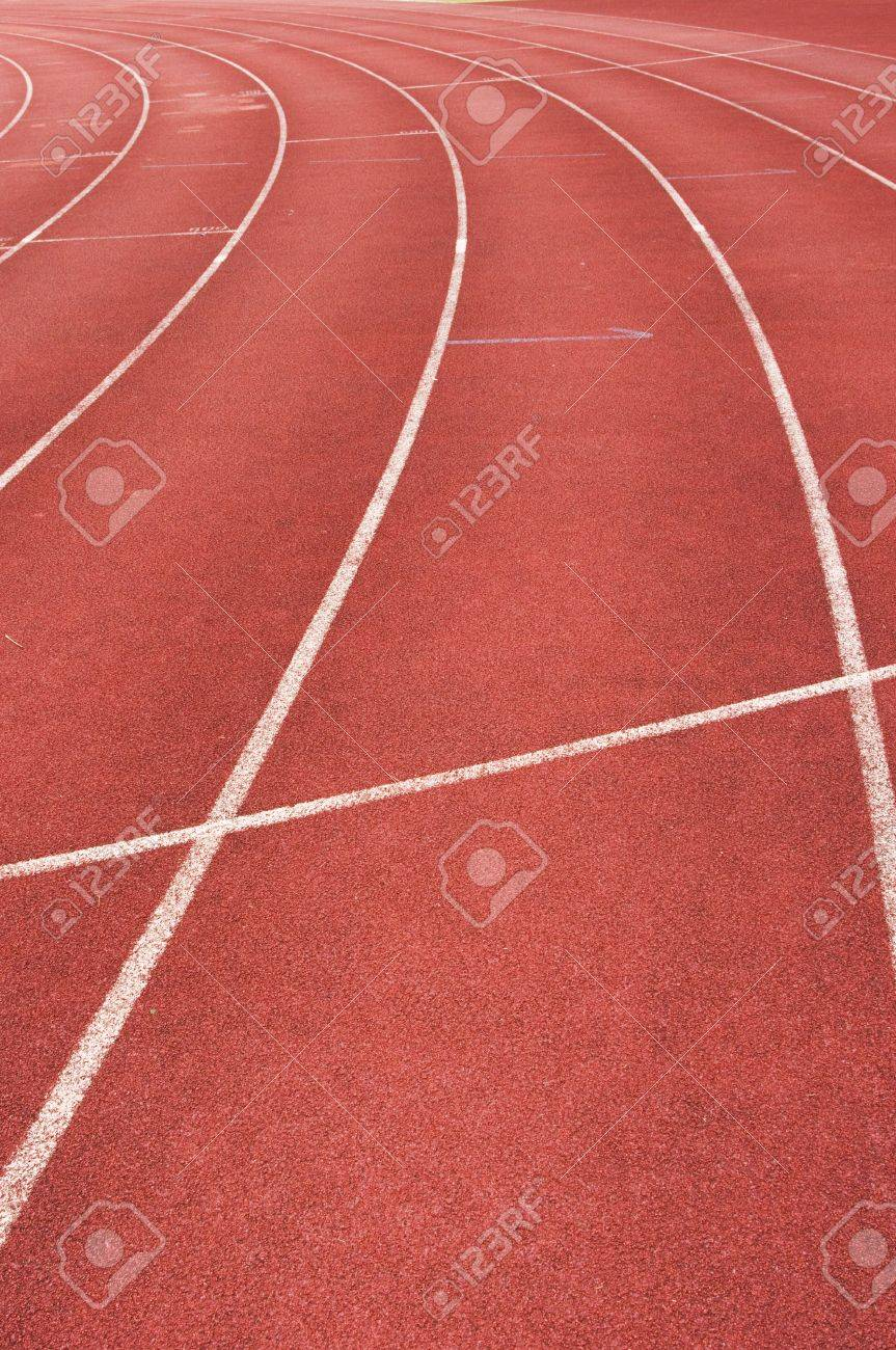 running track for race, for concept or background. Stock Photo - 7504099