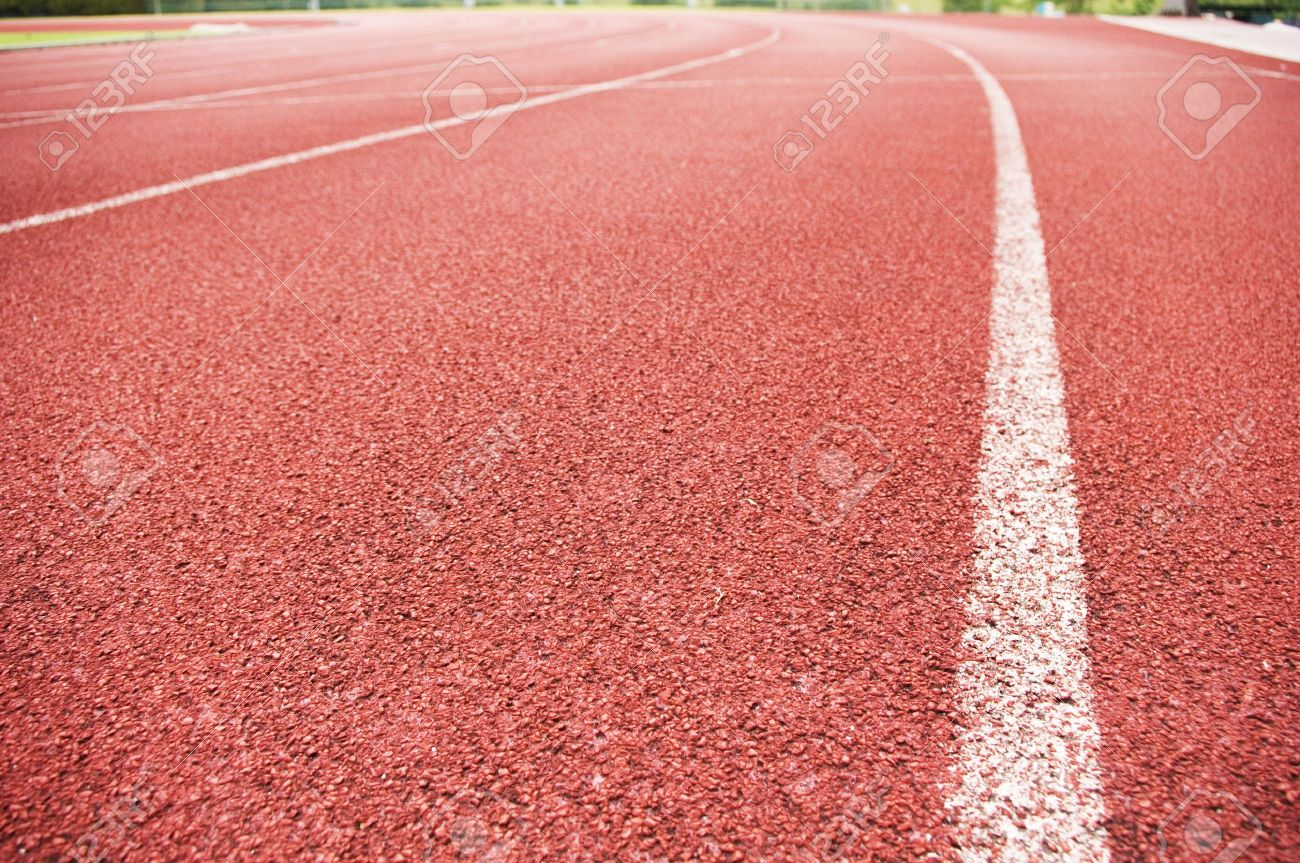 running track for race for concept or background stock photo