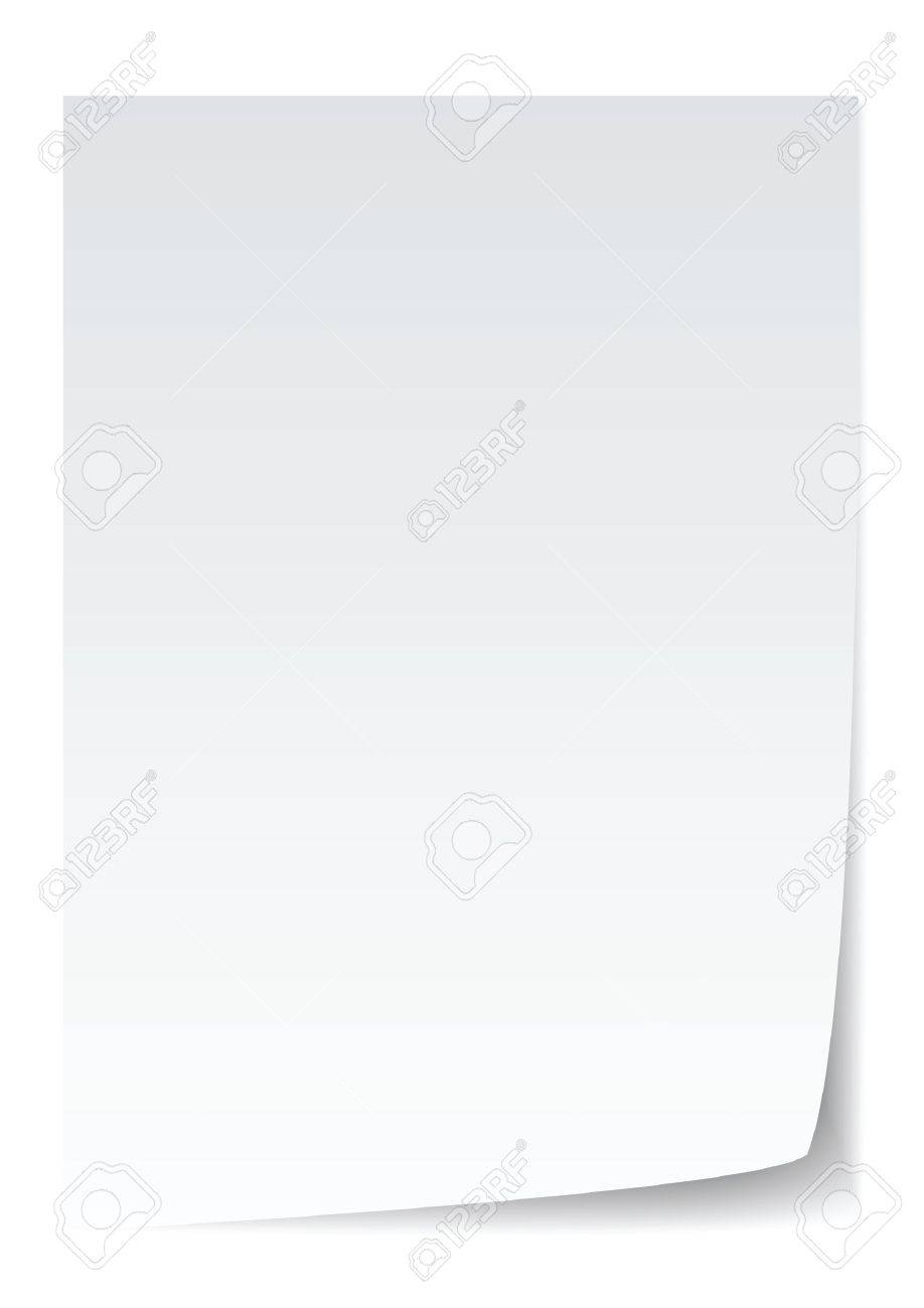 blank paper with page curl, realistic looking. Stock Vector - 8957435