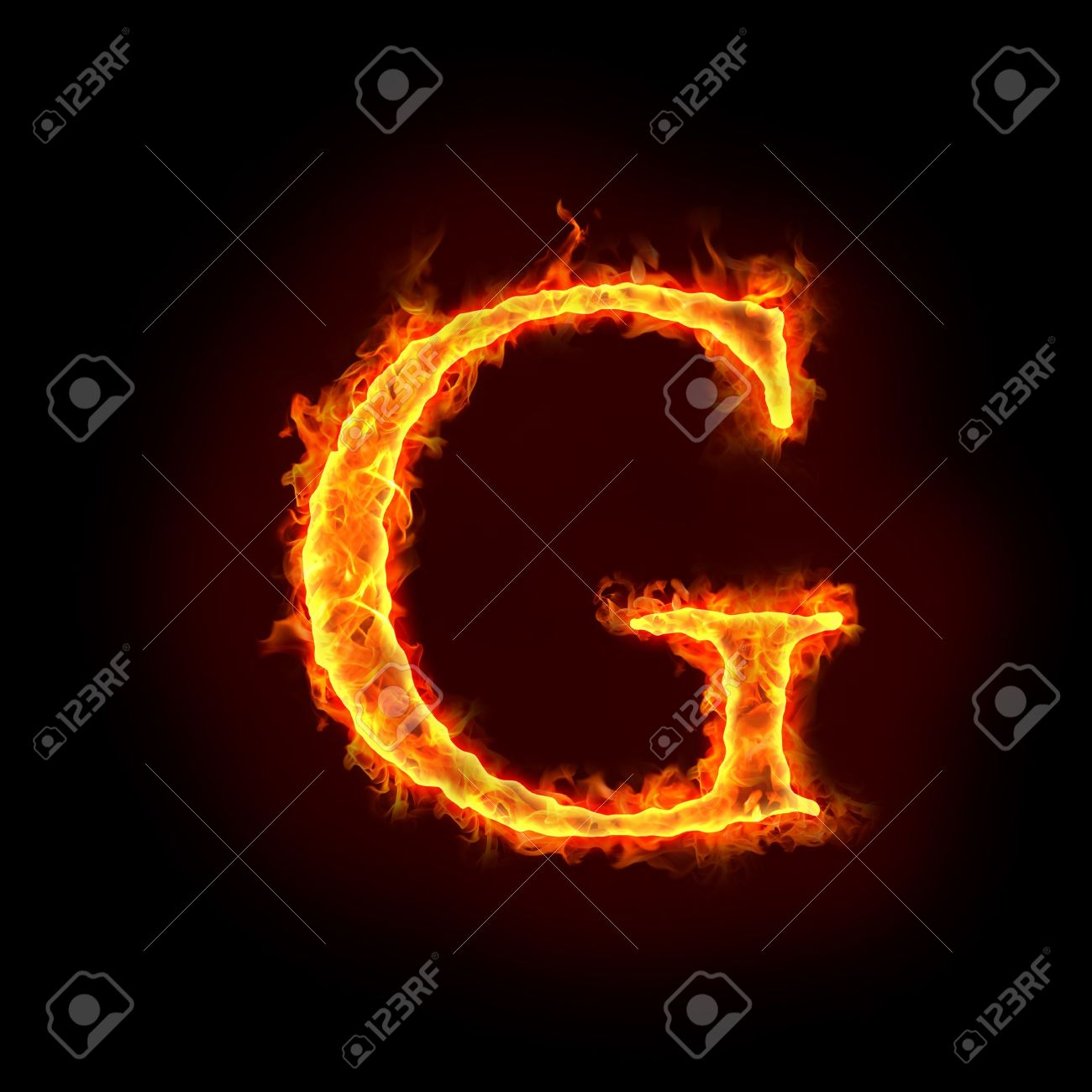 fire alphabets in flame letter g stock photo 10232892