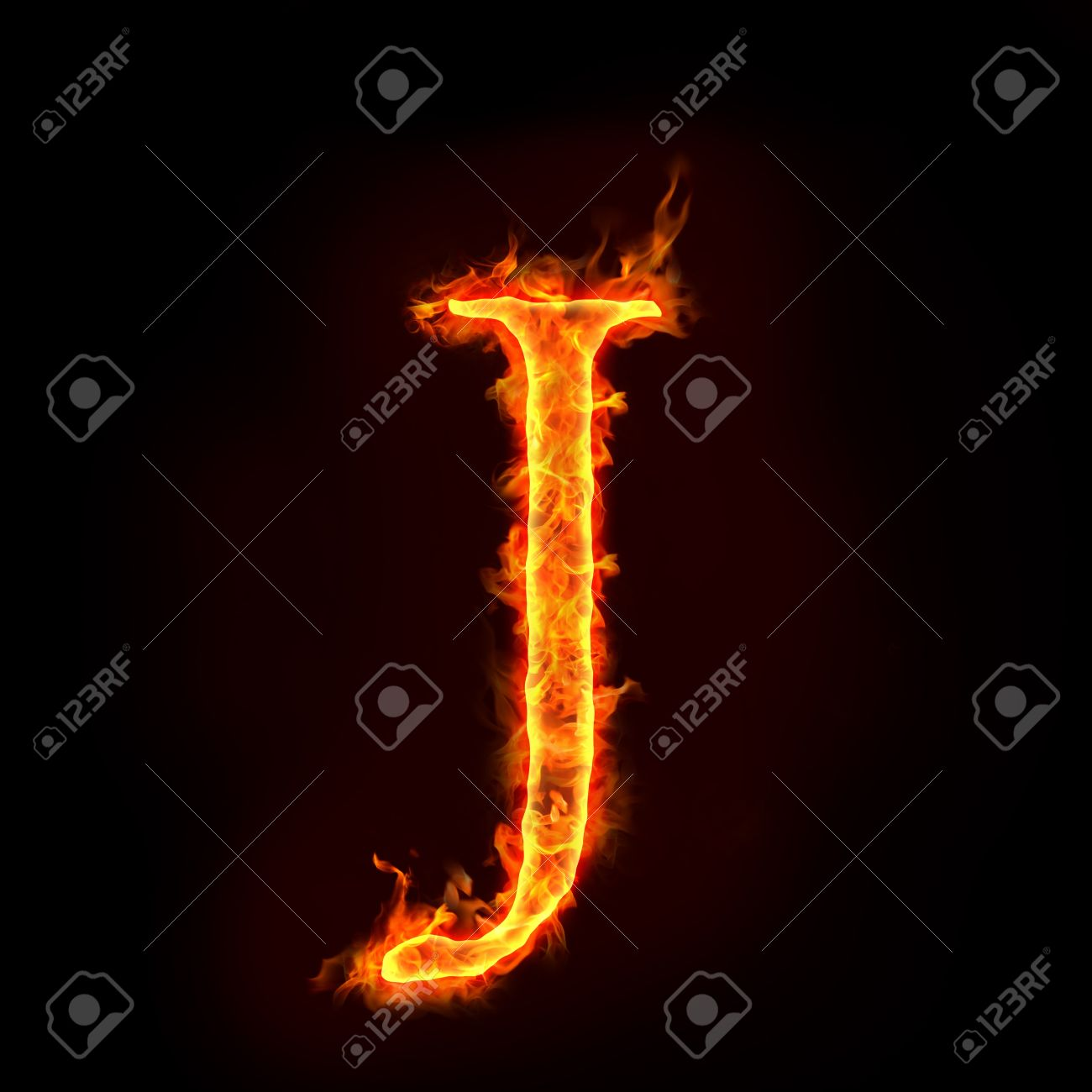 J&t Home Design Part - 42: Fire Alphabets In Flame, Letter J Stock Photo - 10232875