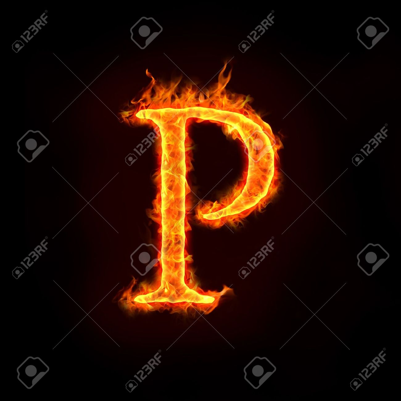 Fire Alphabets In Flame, Letter P Stock Photo   10232877  P&l Sheet