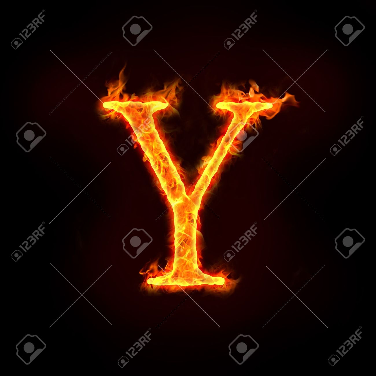 fire alphabets in flame, letter Y Stock Photo - 10232881