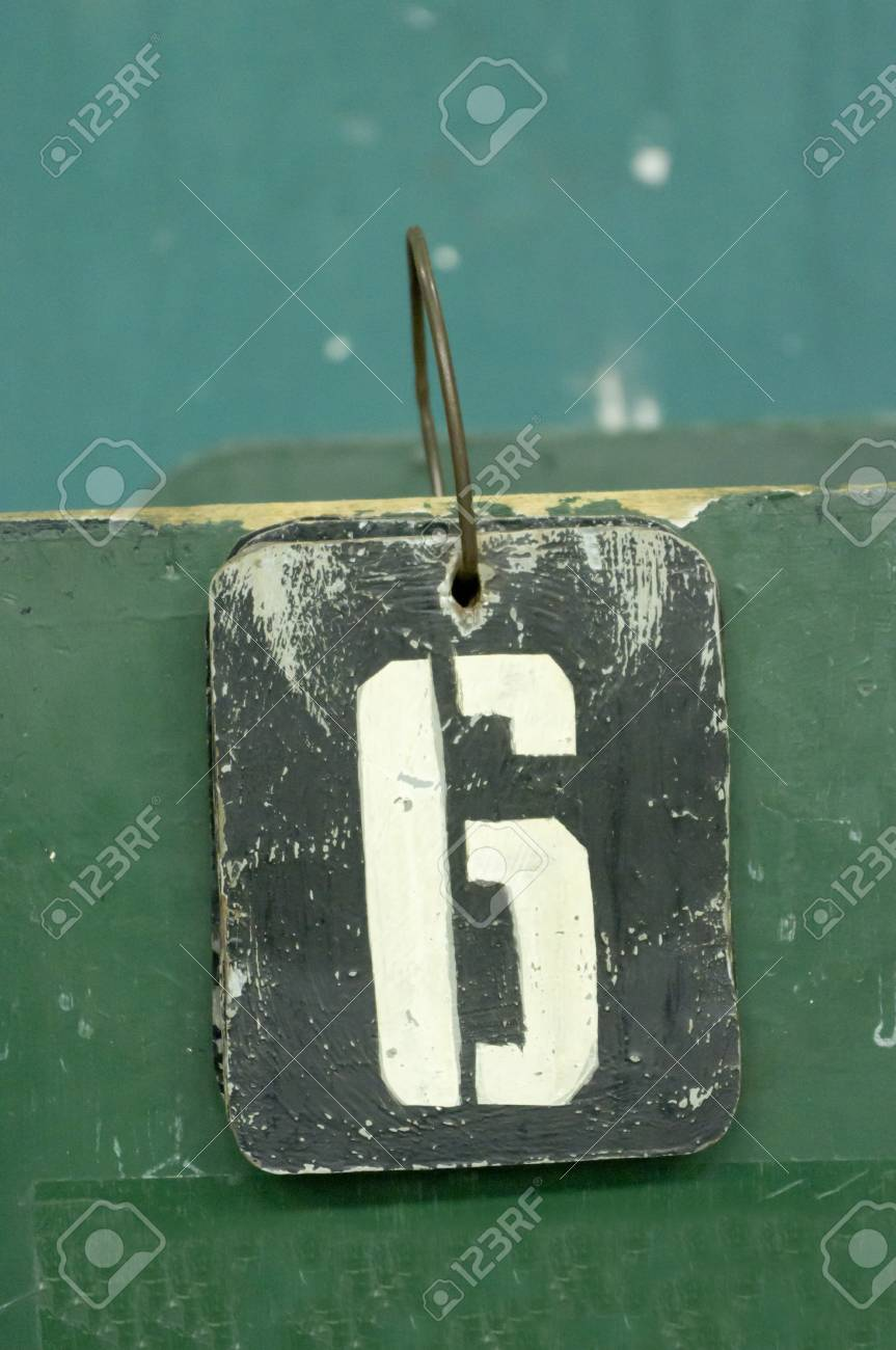 number tags plate for badminton games scores Stock Photo - 10332783