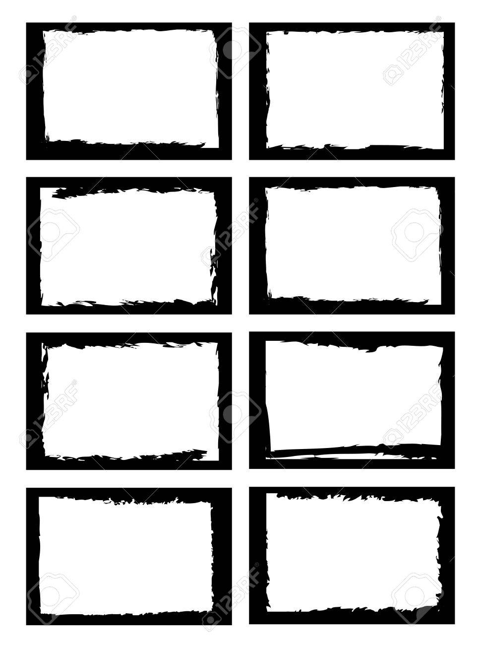 a set of grunge style border, use for photo frame or other usage. Stock Vector - 10598975