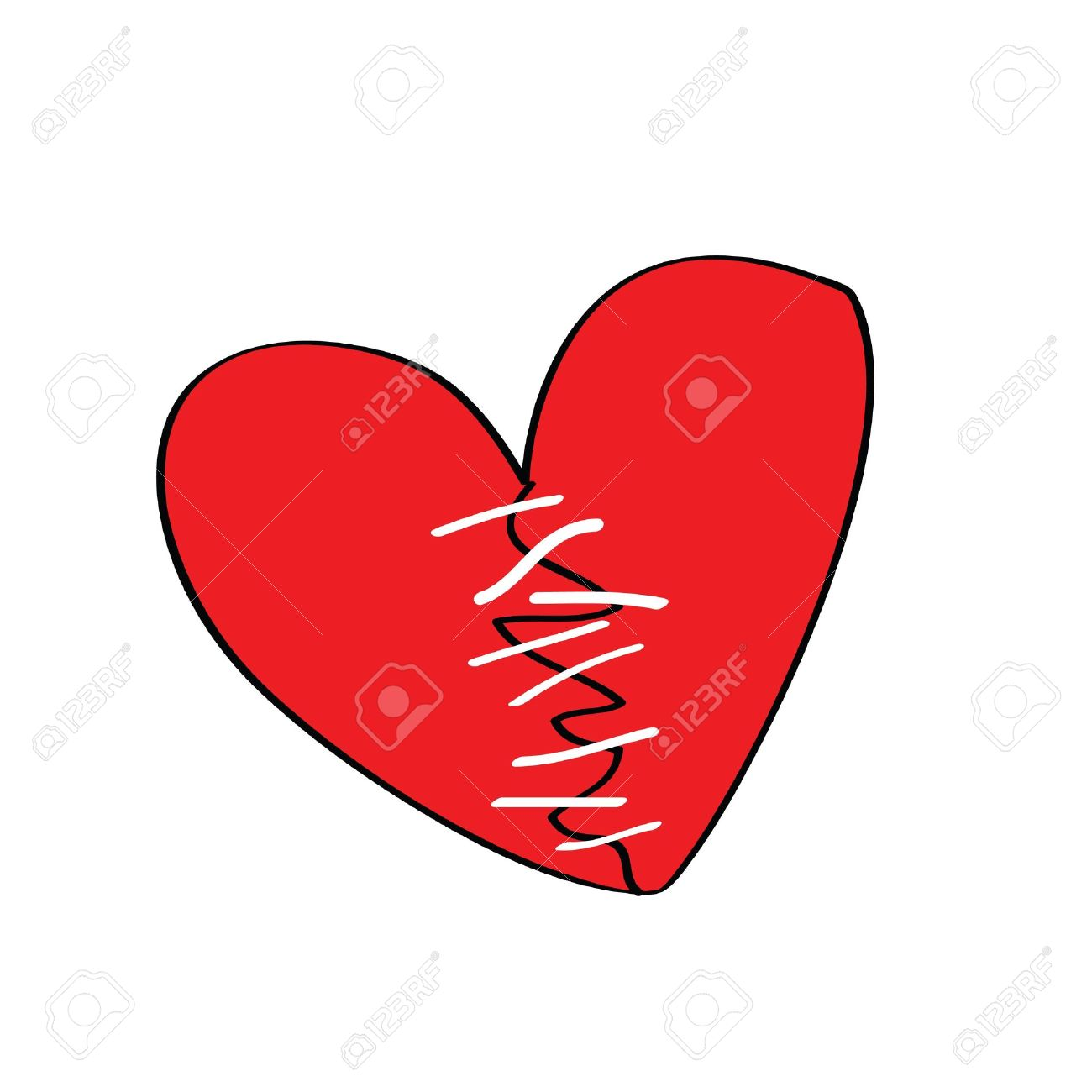 Broken heart with stitches more heart shape cartoon is in my broken heart with stitches more heart shape cartoon is in my profile stock vector biocorpaavc Images