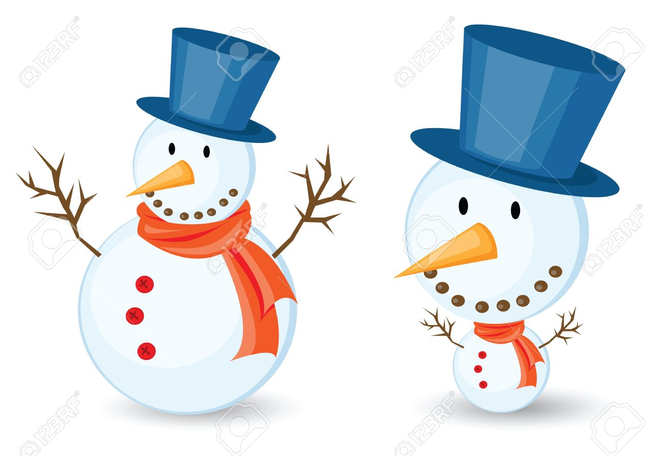 snowman illustrations for christmas theme. Isolated on white background. Stock Vector - 11210167