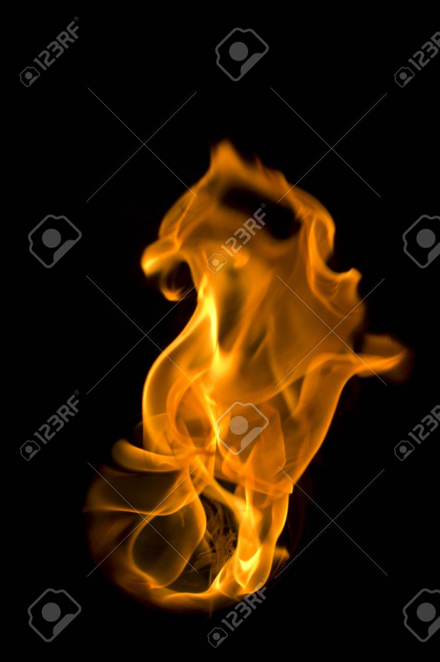 fire with a black background, abstract background. Stock Photo - 11753109