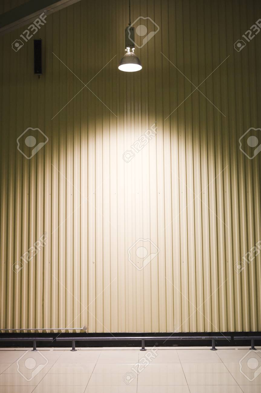 empty warehouse with a headlight on ceiling Stock Photo - 11753221