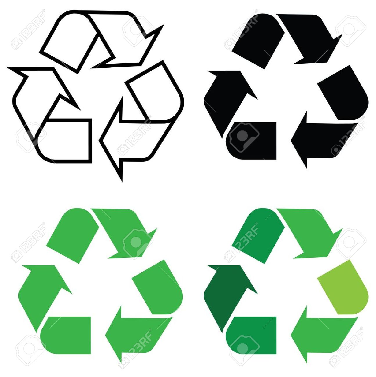 recycle sign in different format, for eco environments. Stock Vector - 11820935