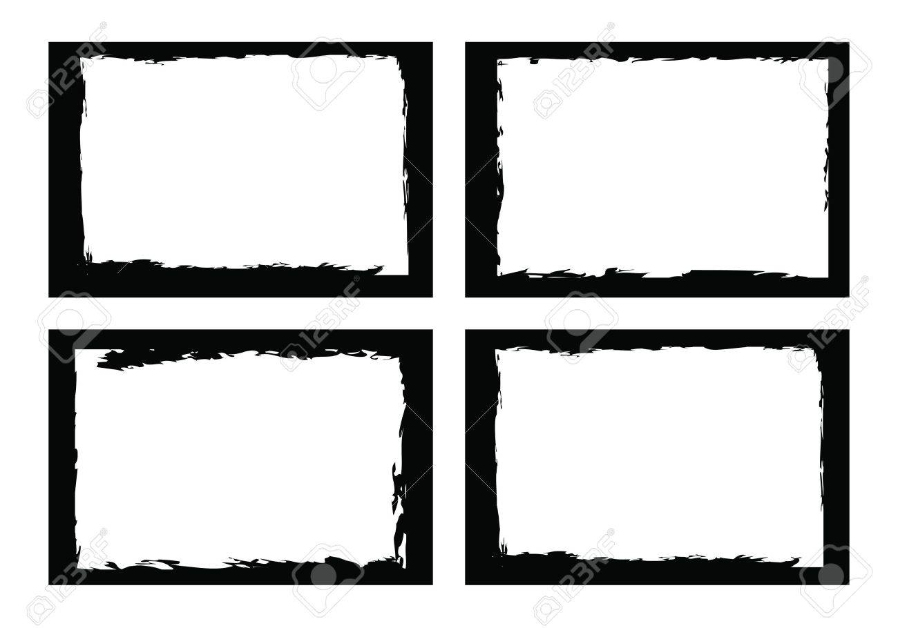 Grunge Borders, Frames, For Image Or Photo. Vector Format. Royalty ...
