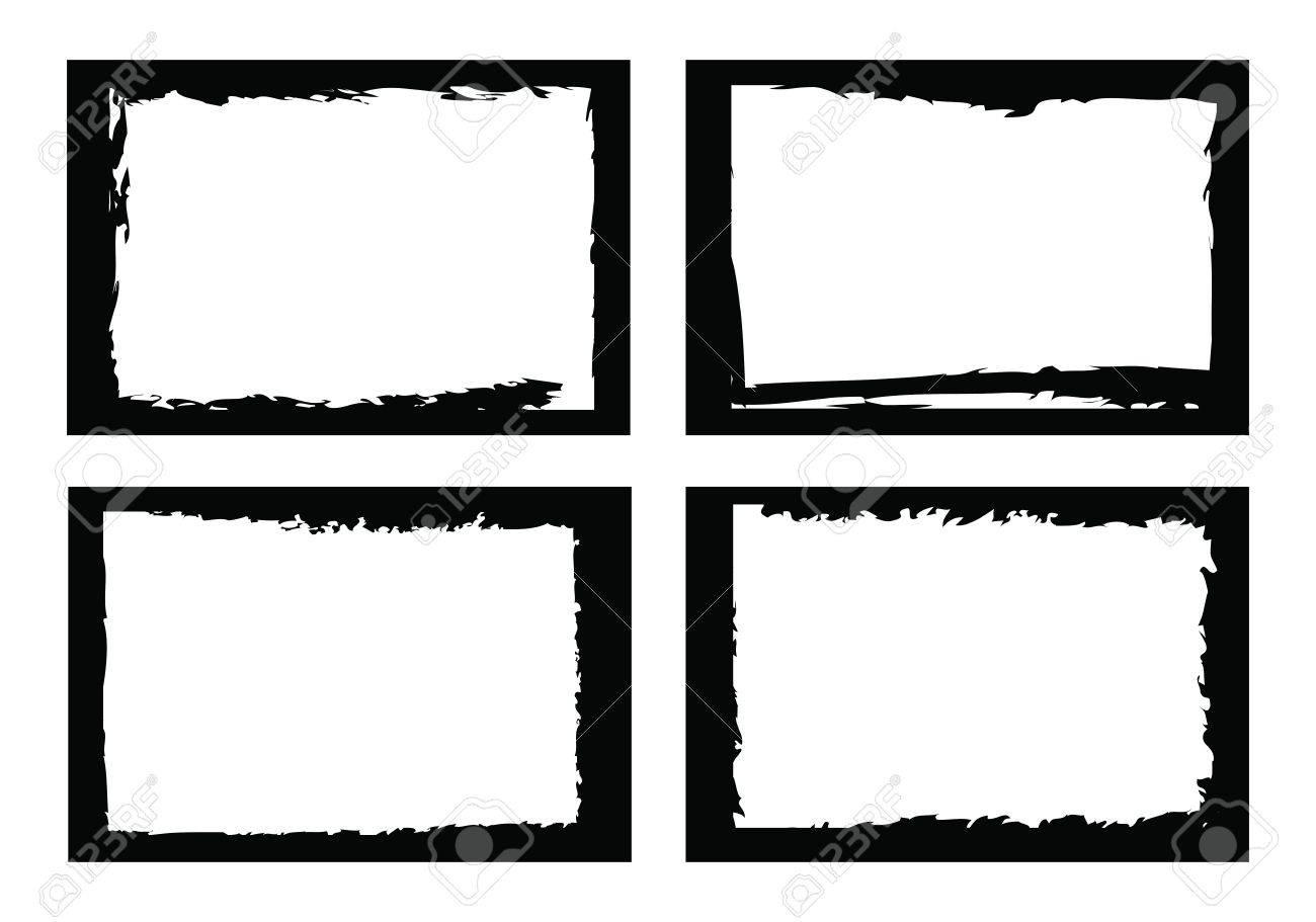 Grunge Grenzen, Rahmen, Für Bild Oder Foto. Vektor-Format ...