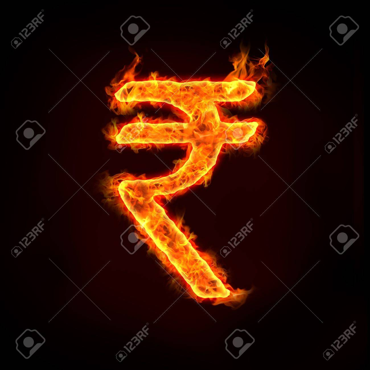 indian rupee, india currency symbol. Stock Photo - 11821116