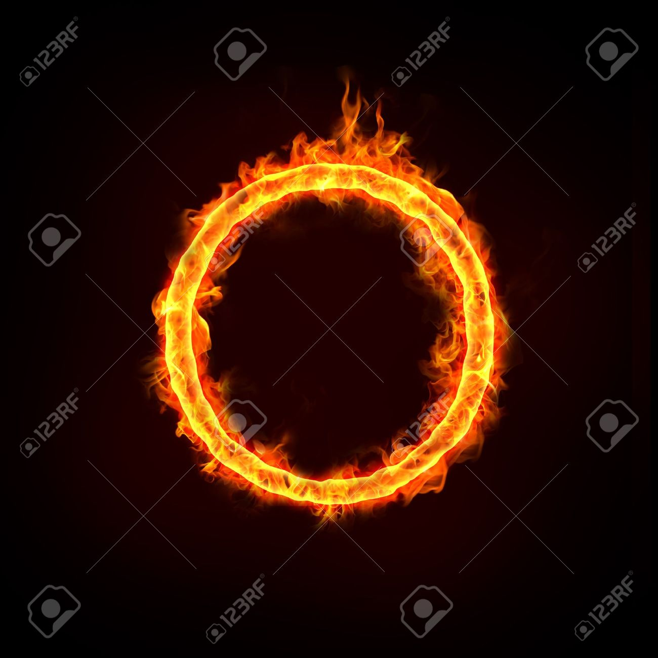 jumping over the fire ring, for business concepts. Stock Photo - 11821112