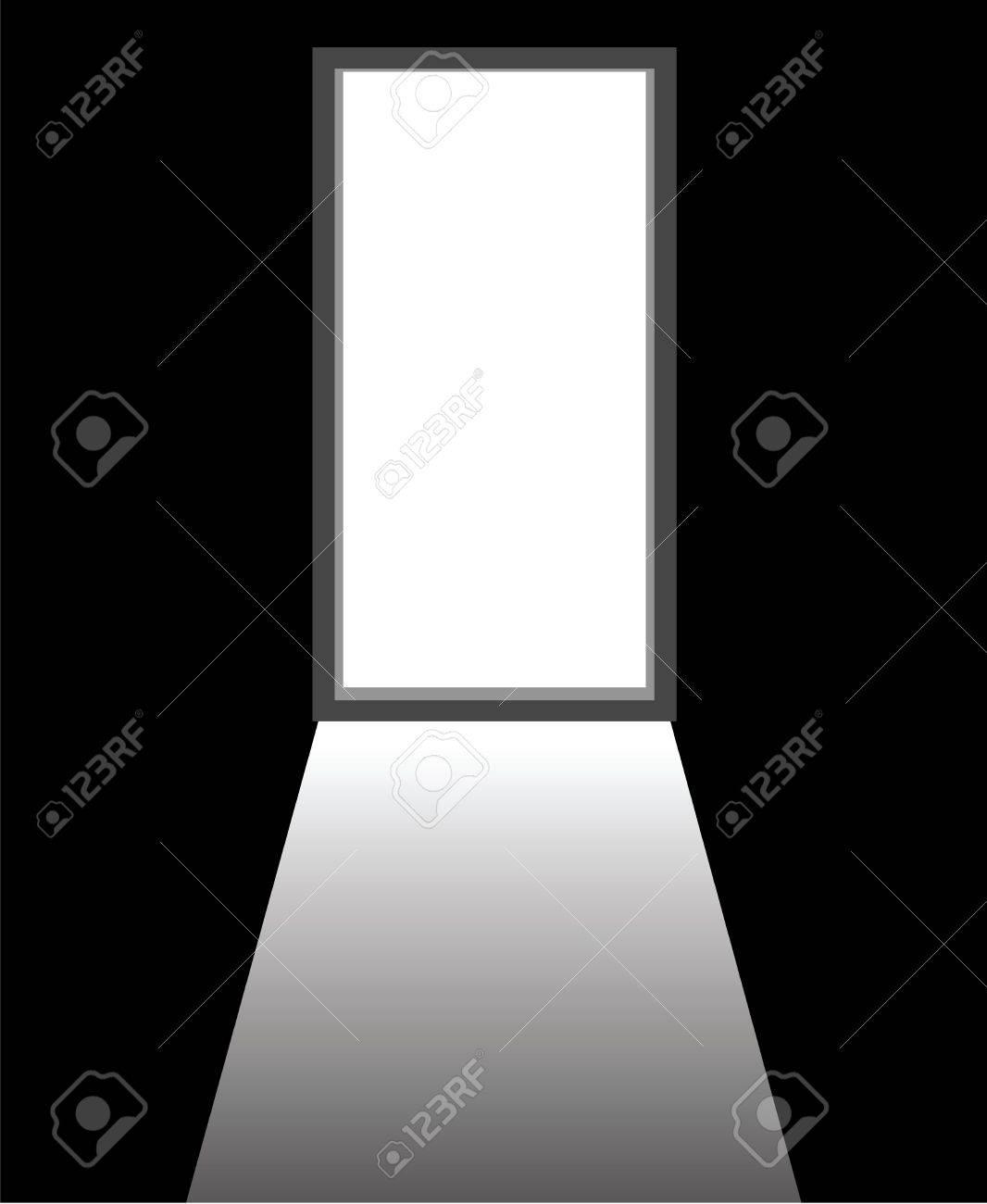 An Open Door Of A Dark Room Royalty Free Cliparts Vectors And