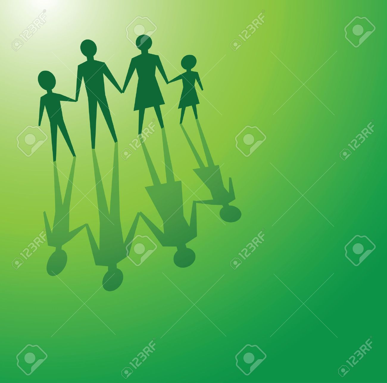 to illustrations a family in a green background, for environmental concepts. Stock Vector - 11822921