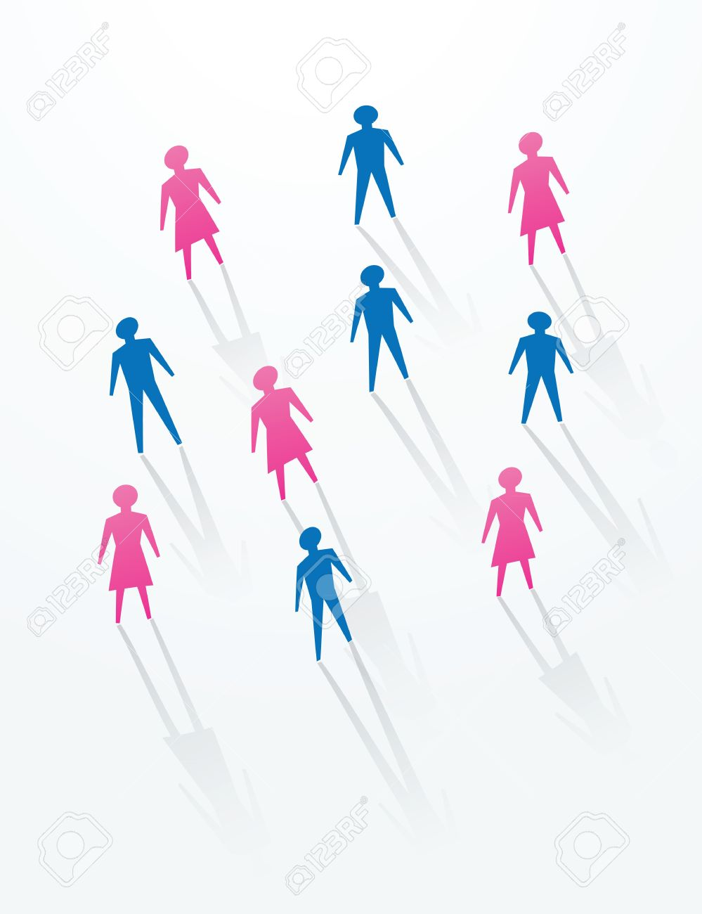 man and woman paper cutout people sihouettes, for social life in society. Stock Vector - 11822982