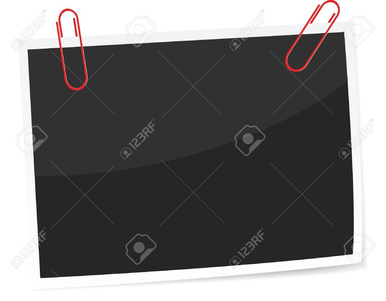 a photo with paper clip, vector format, paper clip can be moved around. Stock Vector - 11823291