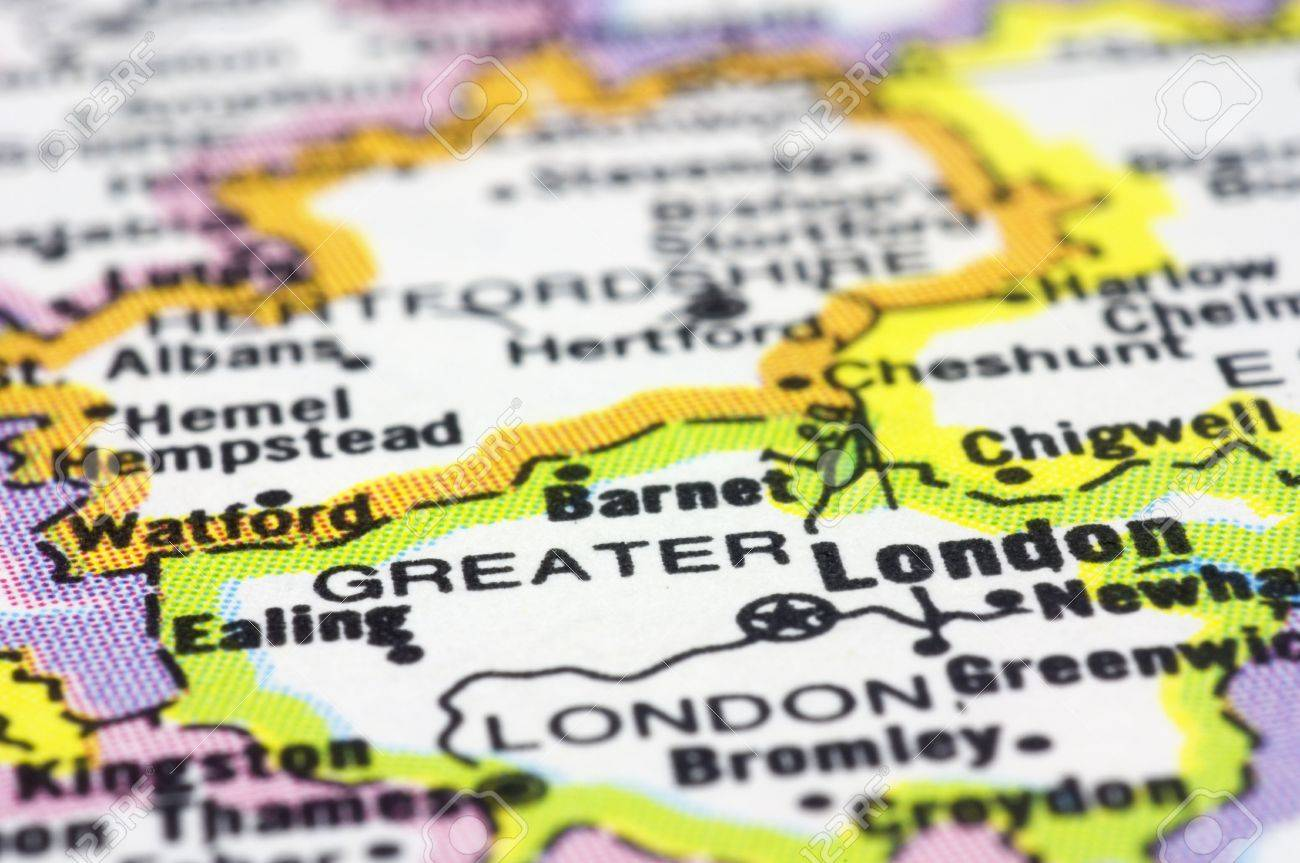 England Map London.Close Up London On Map London Is Capital City Of England And