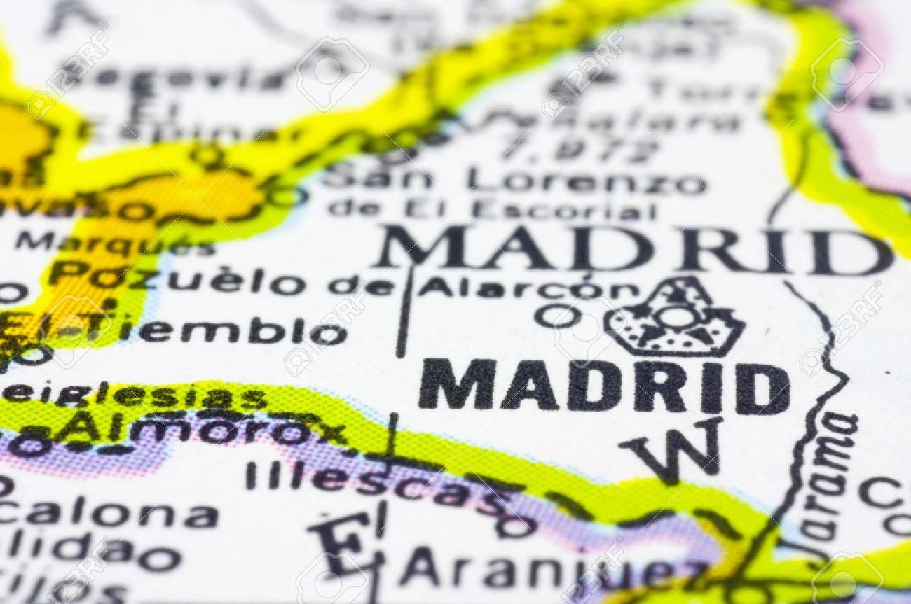 Madrid Capital De España Mapa.Un Disparo Cerca De Madrid En El Mapa La Capital De Espana