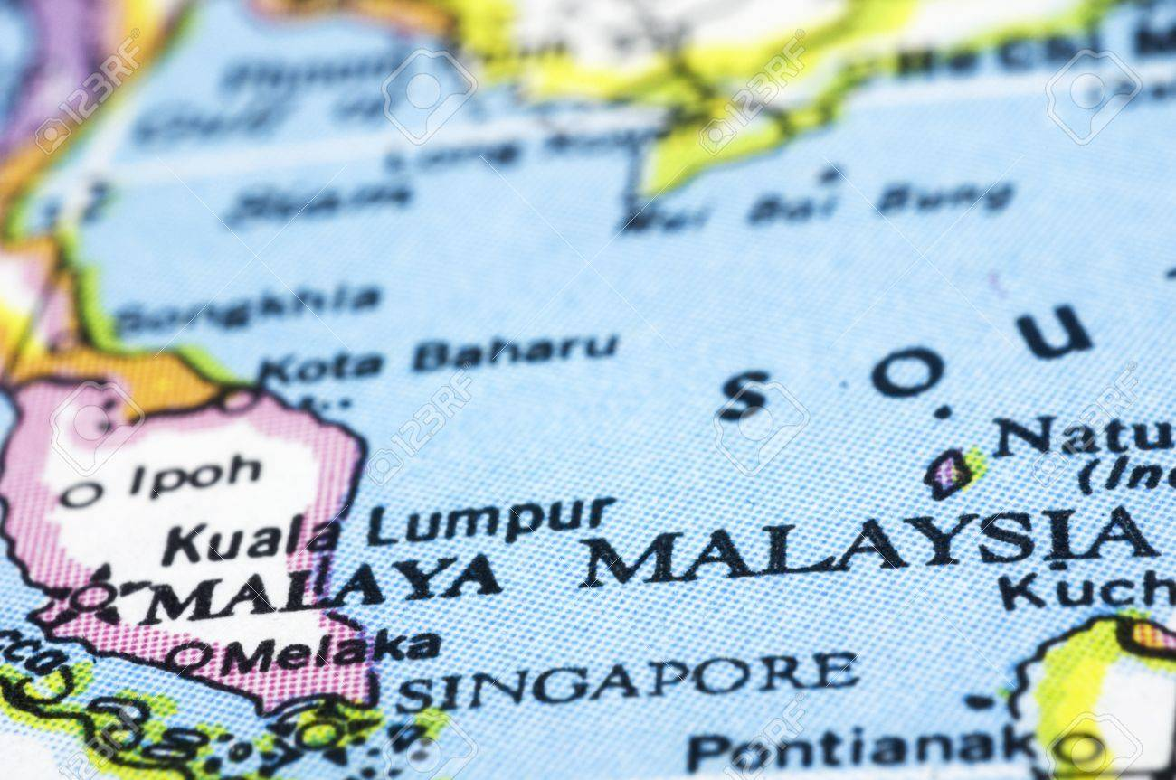 Map Of Asia Malaysia.Malaysia Close Up On Map Southeast Asia Countries