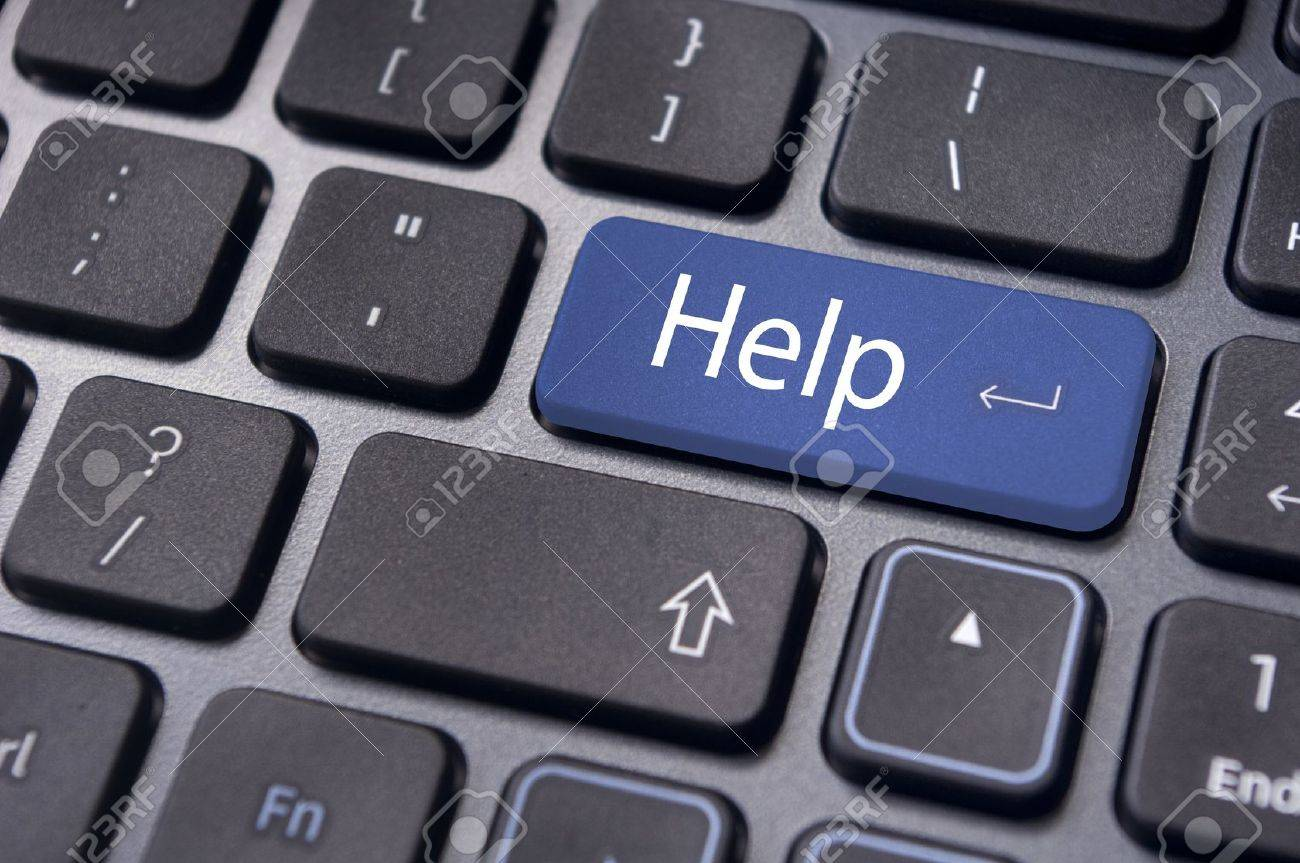 keyboard message with online supports or help concepts. Stock Photo - 14892030