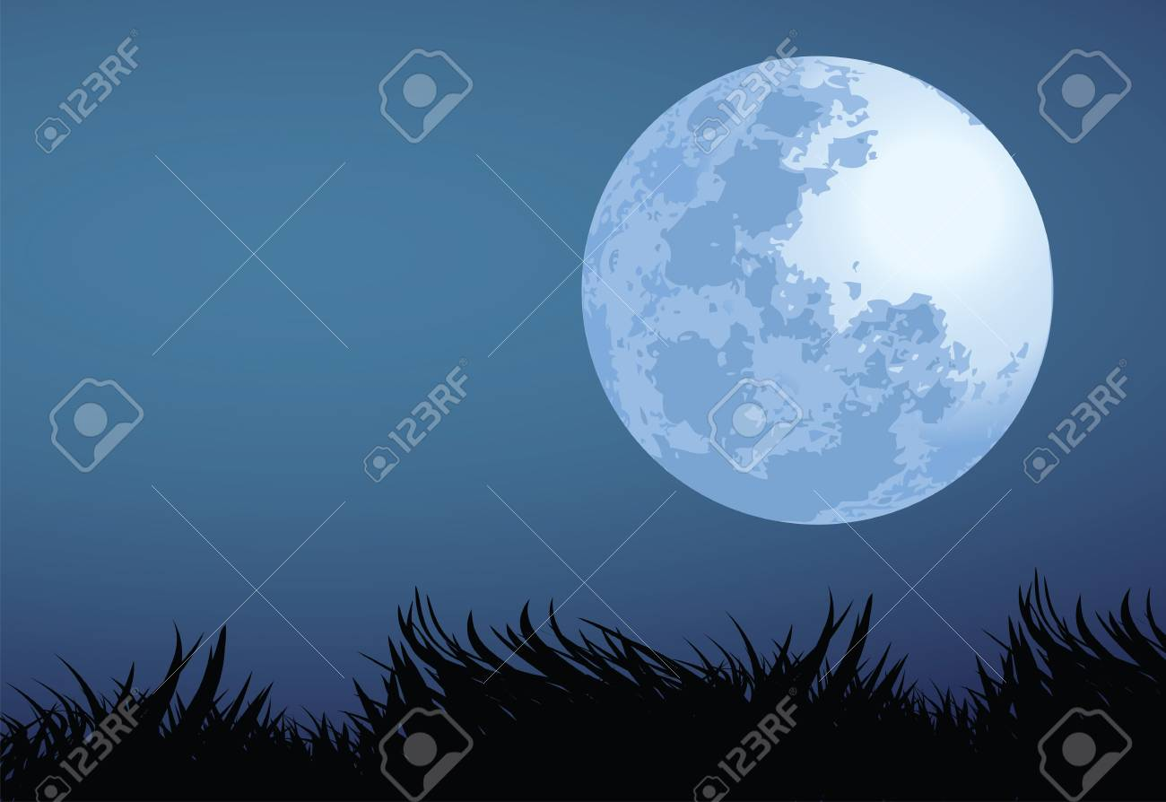 illustration of full moon night Stock Vector - 15398530