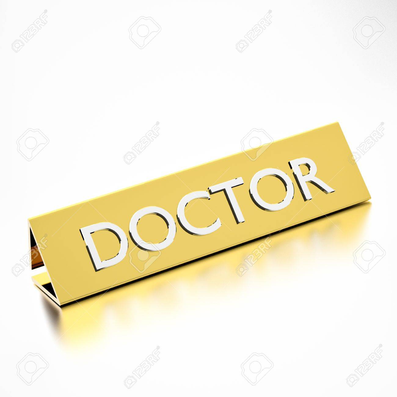 doctor job title on plate for career professions d render doctor job title on plate for career professions 3d render stock photo