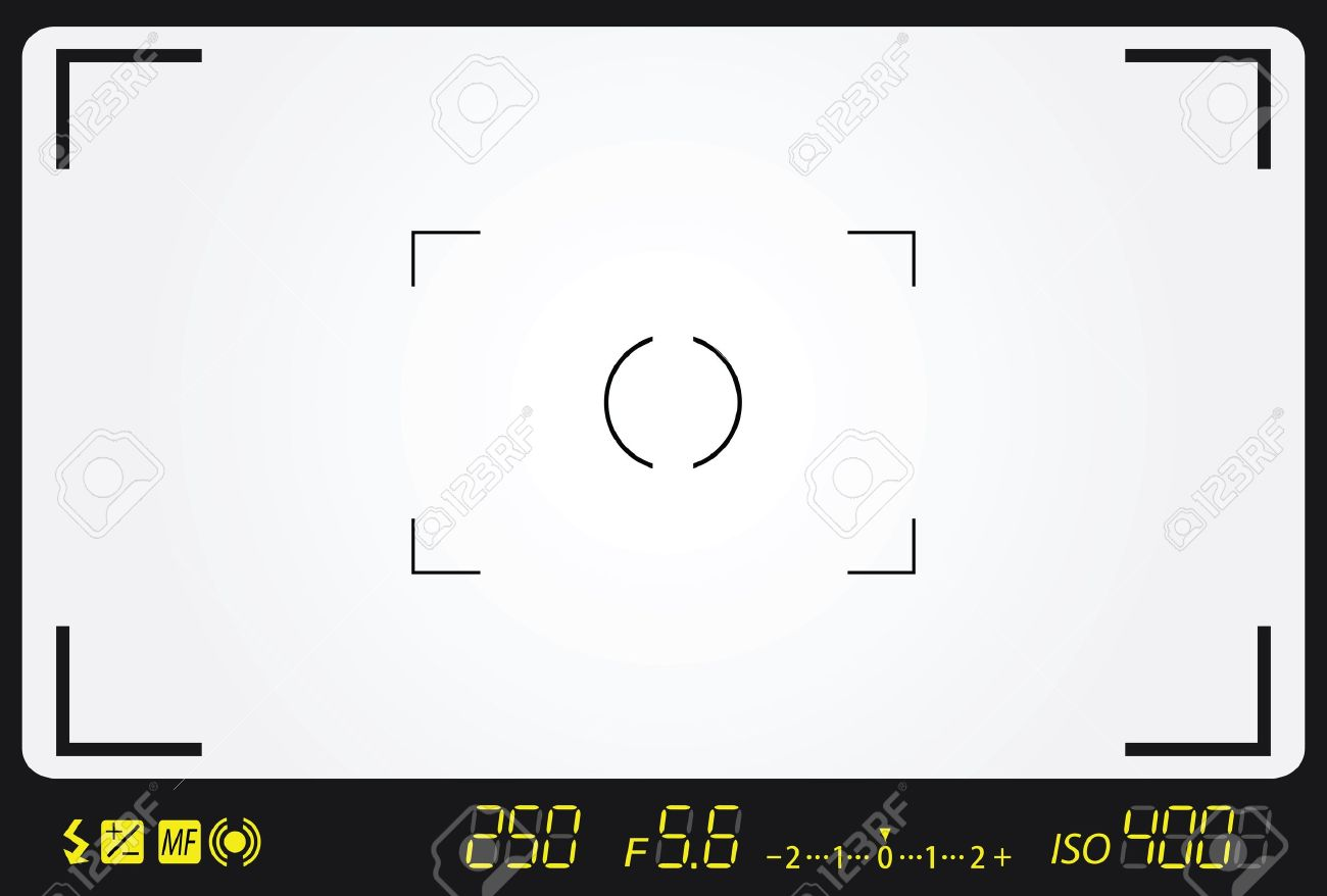camera viewfinder with exposure and camera settings. Stock Vector - 18711204
