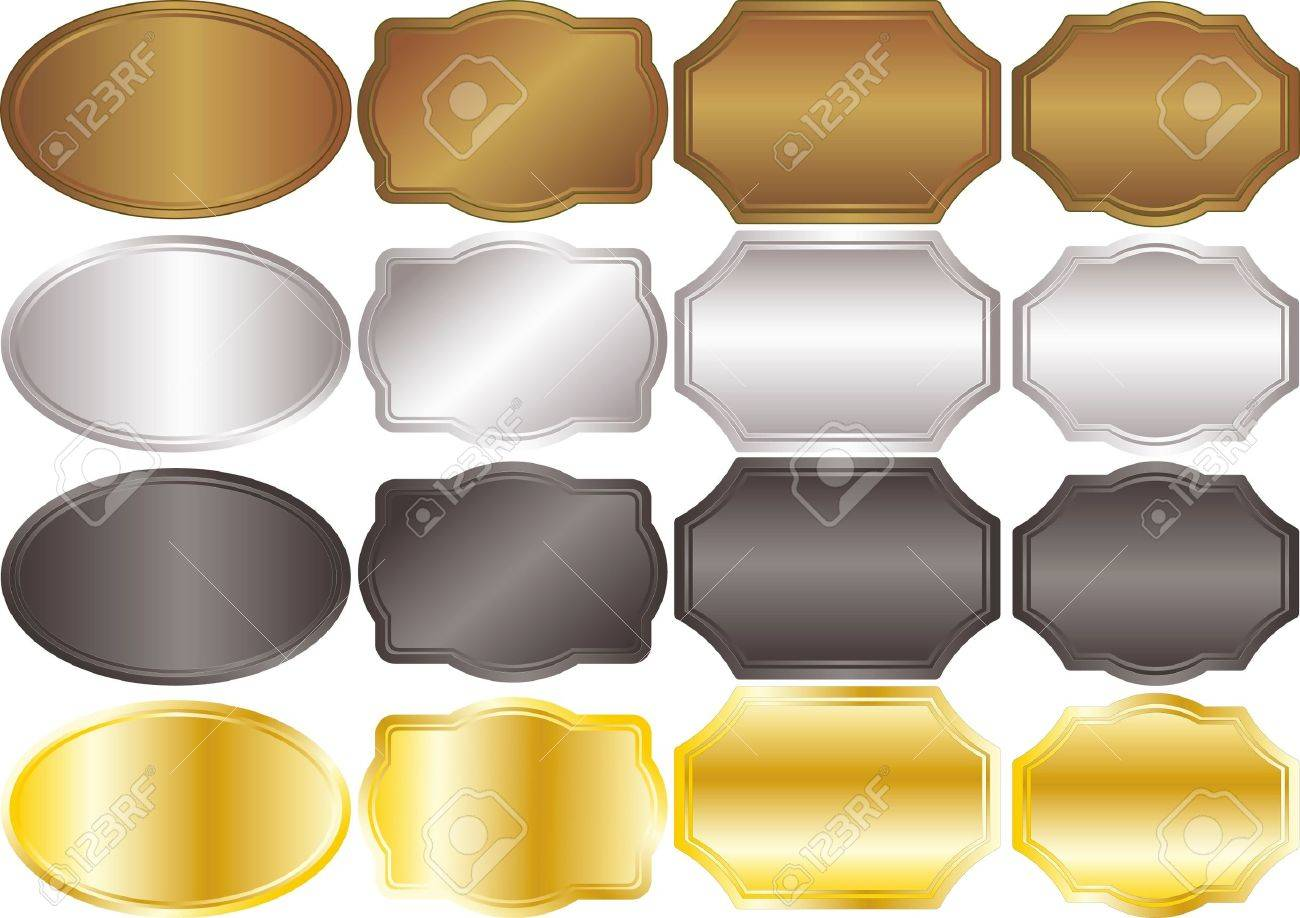 banners metallic backgrounds gold silver Stock Vector - 11004985
