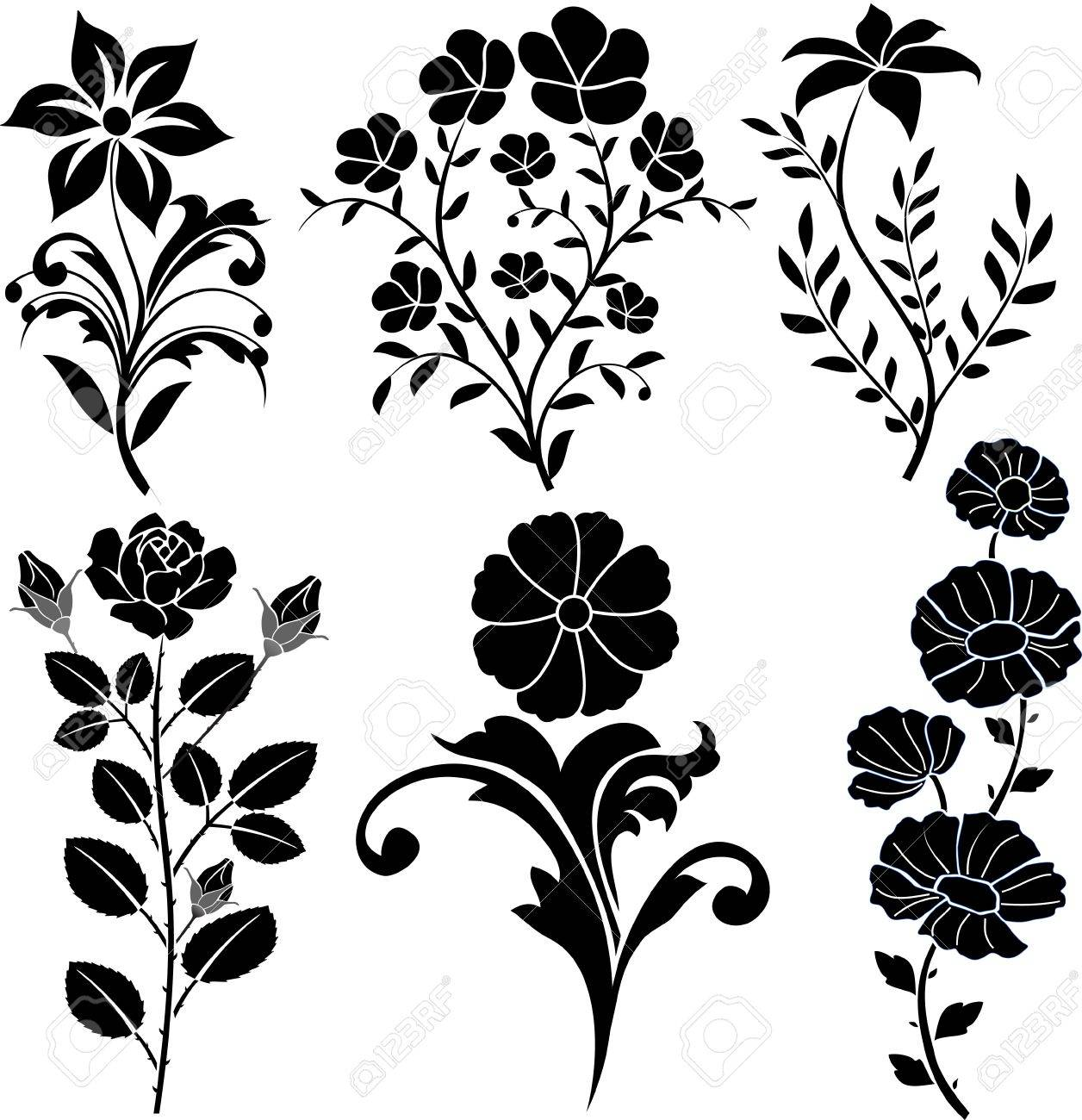 Floral Decoration floral decoration royalty free cliparts, vectors, and stock