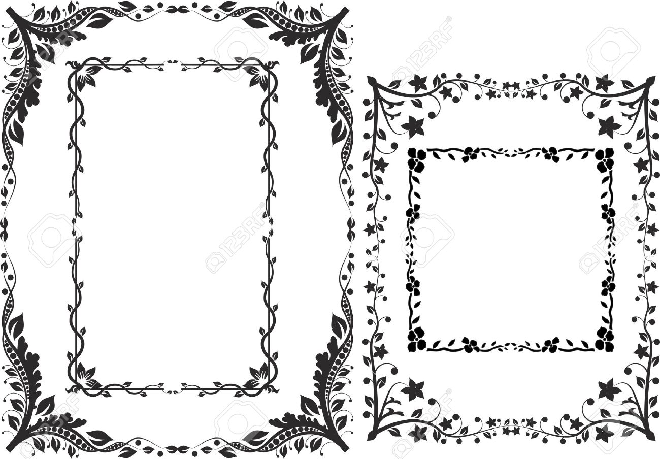 borders and frames design elements Stock Vector - 11091682
