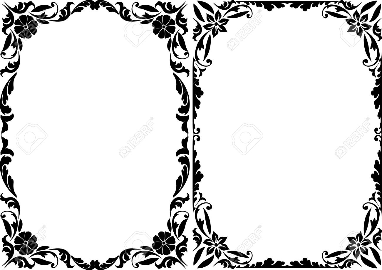 vector silhouette decorative frames - Decorative Frames