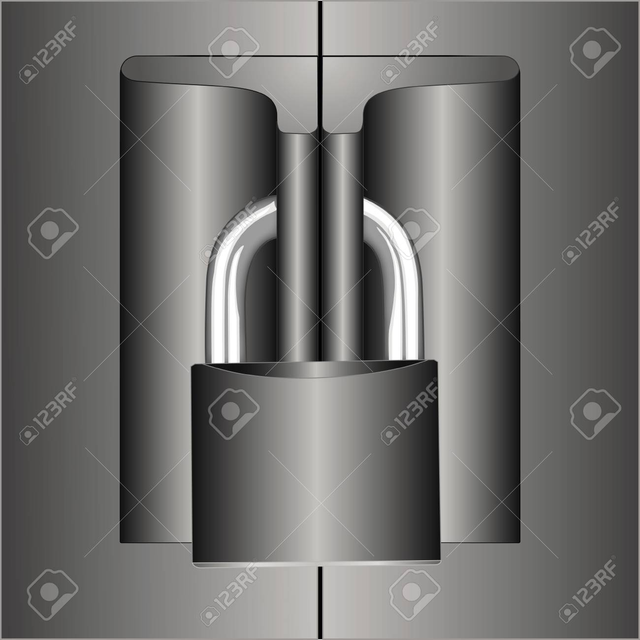 Safe closed with padlock Stock Vector - 11184375