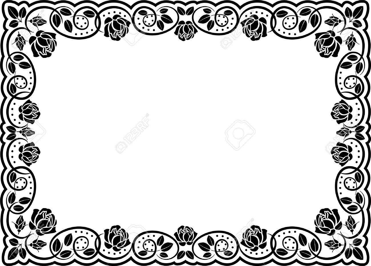 rose border Stock Vector - 11671641