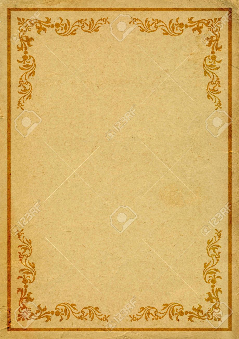 Old Paper With Decorated Border Stock Photo, Picture And Royalty ...