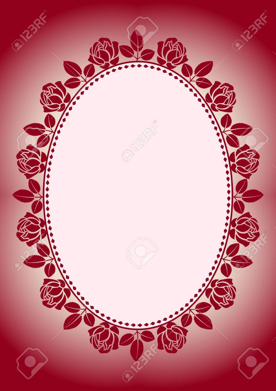 background with frame roses Stock Vector - 11959774