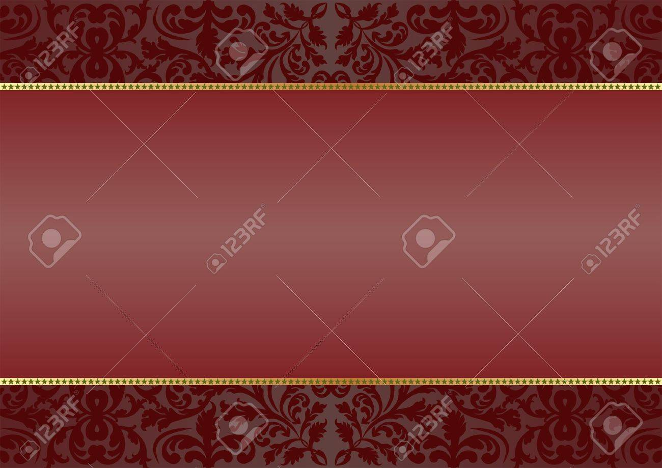 deep red  background with ornaments Stock Vector - 12804797