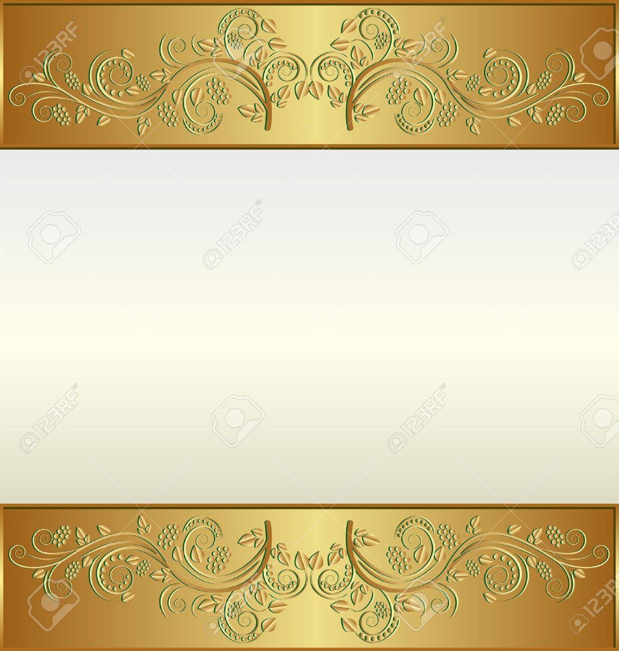 Weinlese-goldener Rahmen Mit Platz Für Den Text Lizenzfrei Nutzbare ...