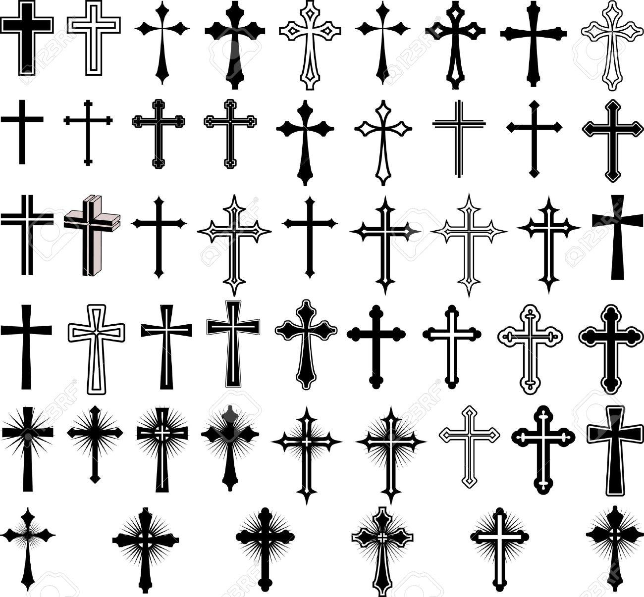 clip art illustration of crosses Stock Vector - 13691066