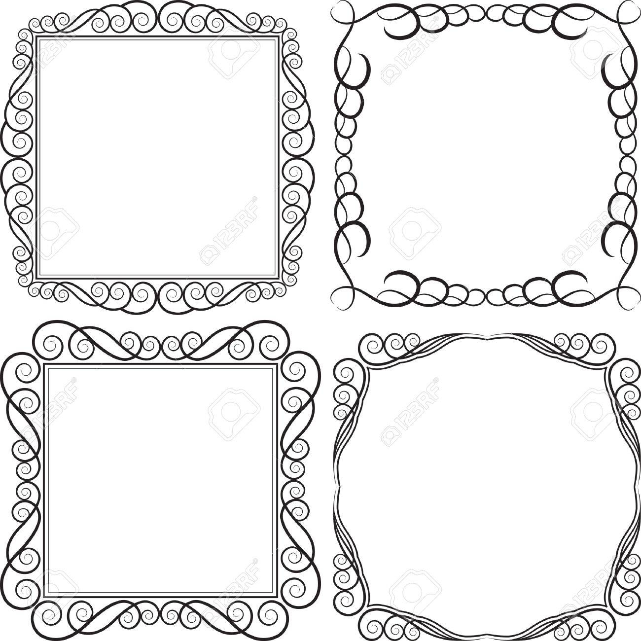 square frames vector illustration stock vector 14205807
