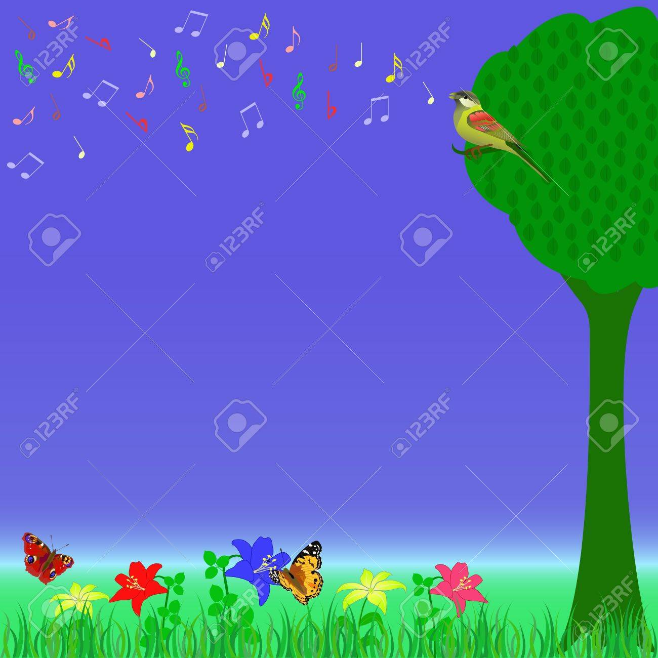 meadow illustration Stock Vector - 14405425