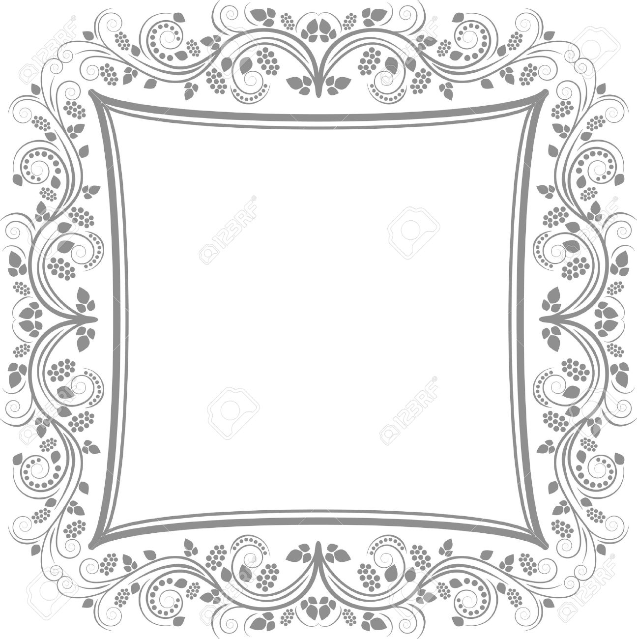 decorative floral border - clip art illustration Stock Vector - 15858805