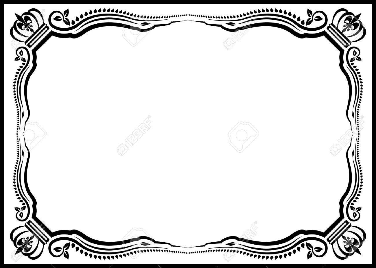 silhouette decorative border vector illustration royalty free rh 123rf com decorative circle border vector decorative border corners vector