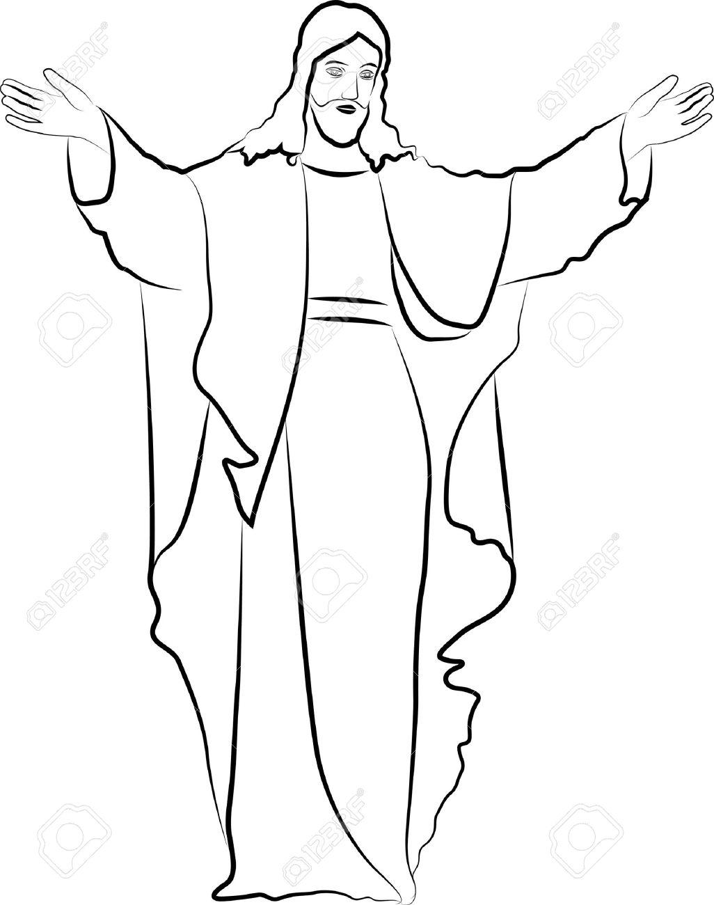 Sketch jesus christ stock vector 16552757