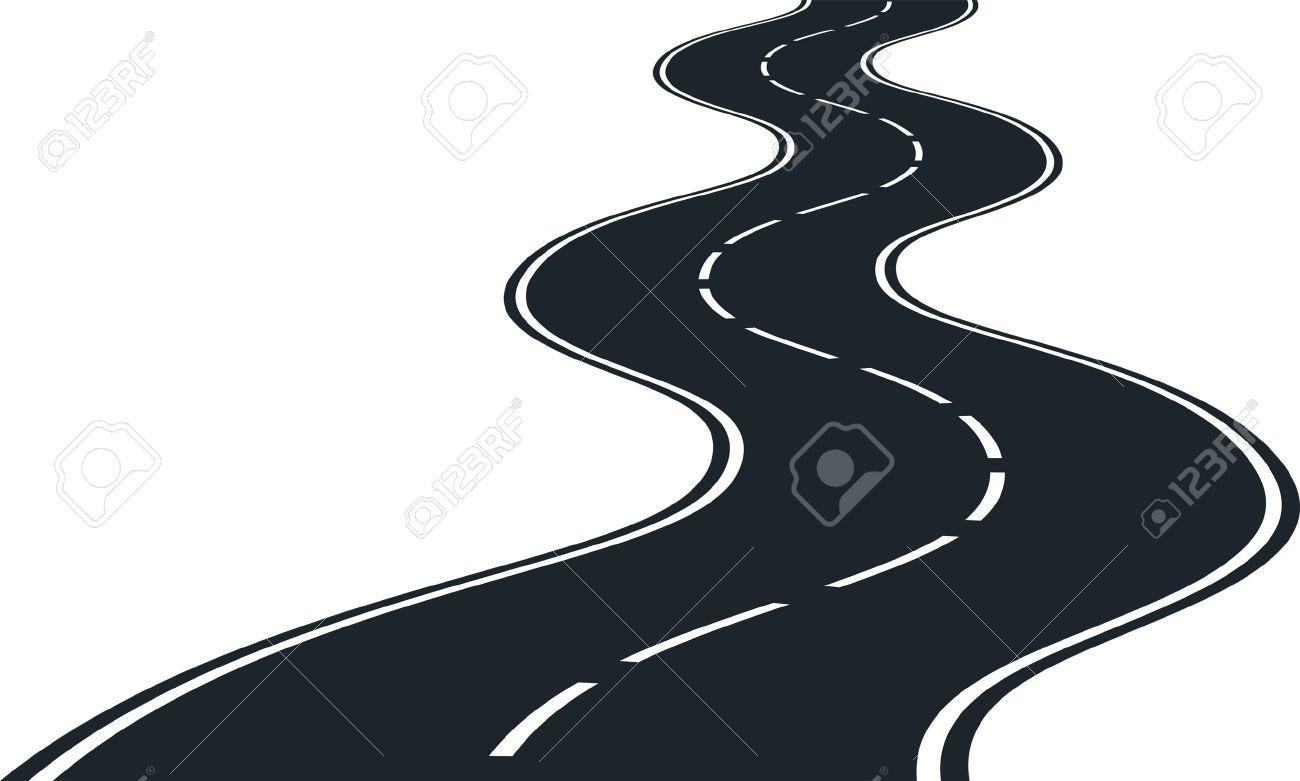 Road curves - clip art illustration Stock Vector - 17062384