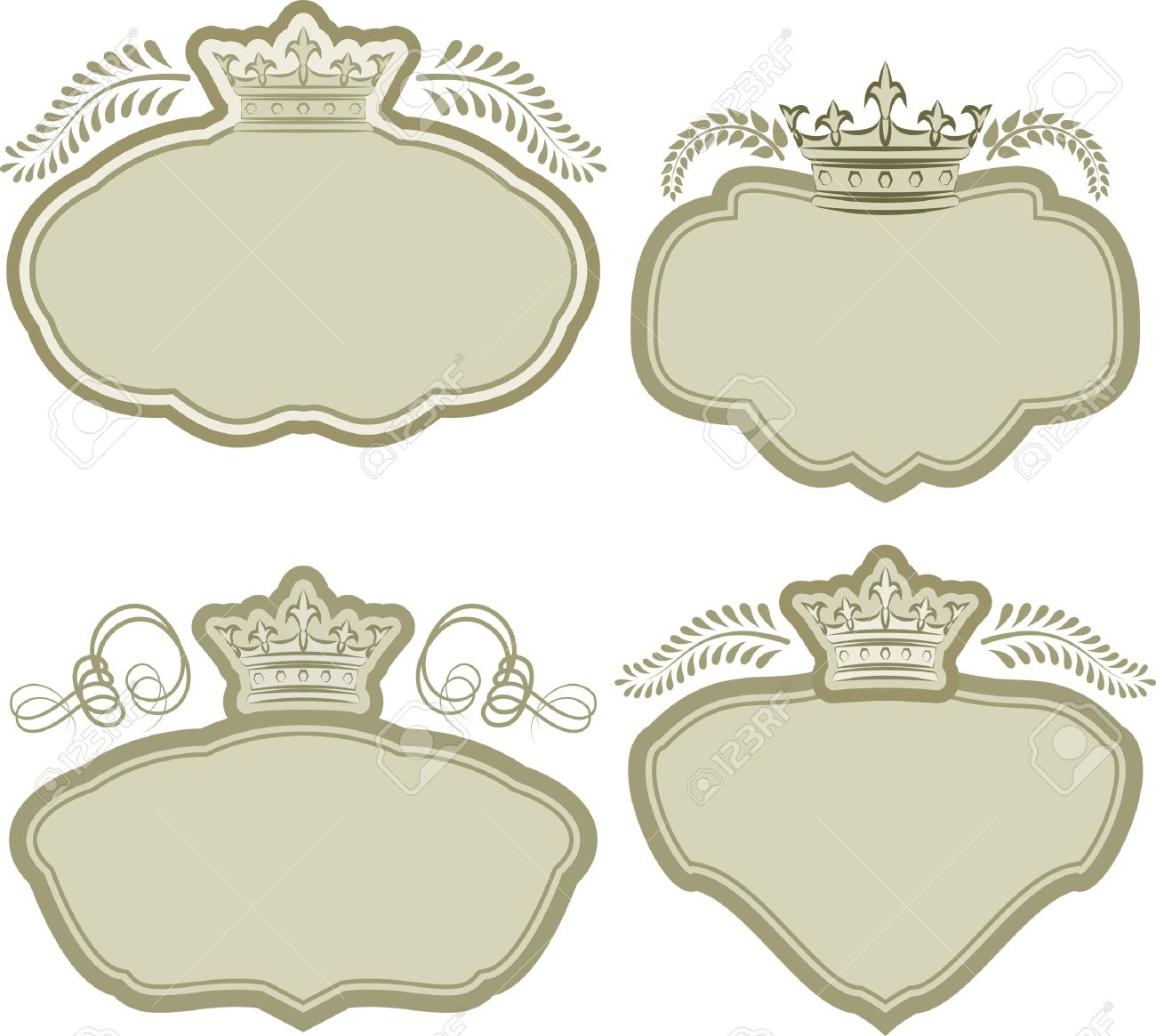 set of backgrounds with crowns Stock Vector - 18726262