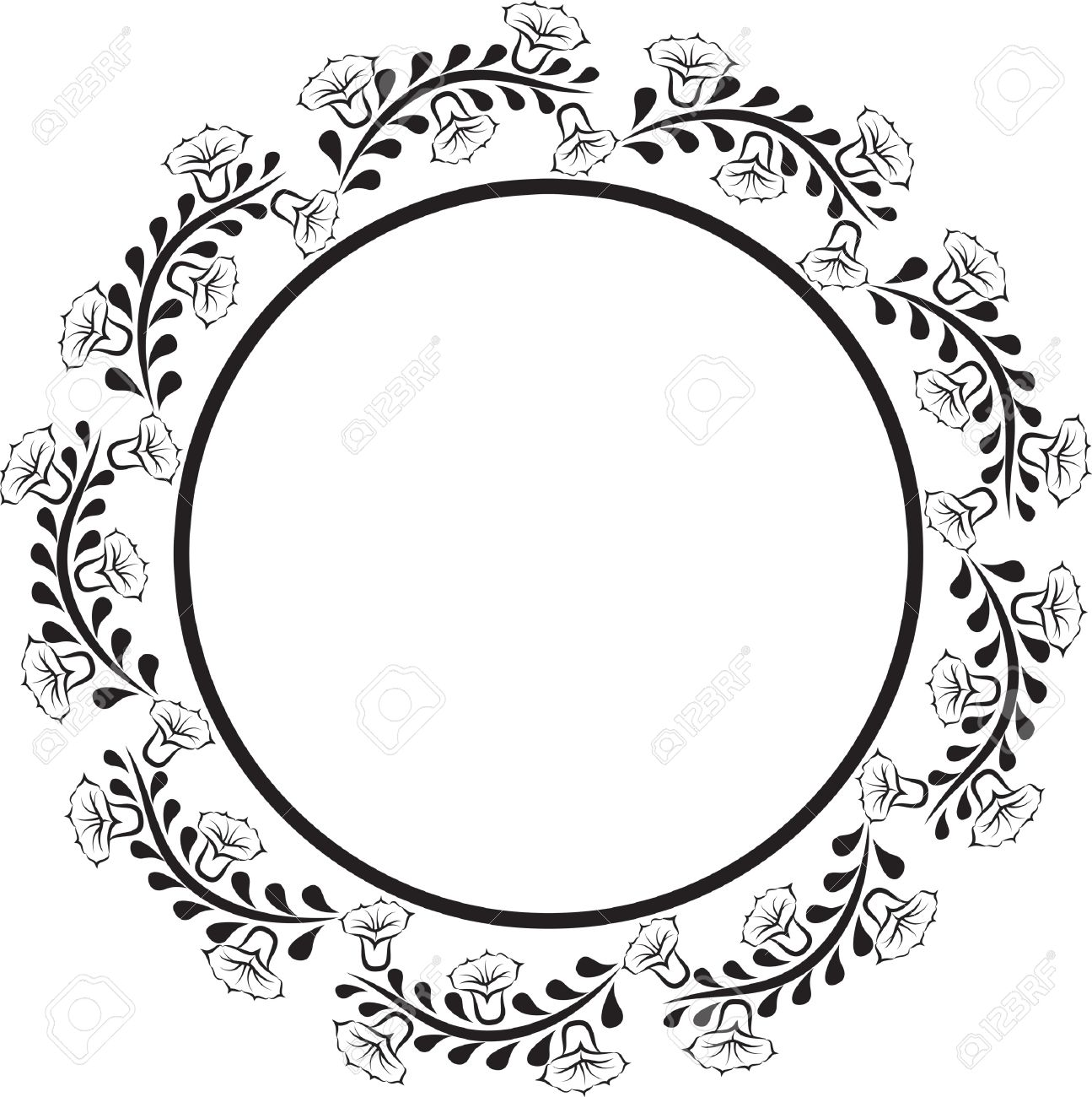 Oval Design Png Circle Border Design Png