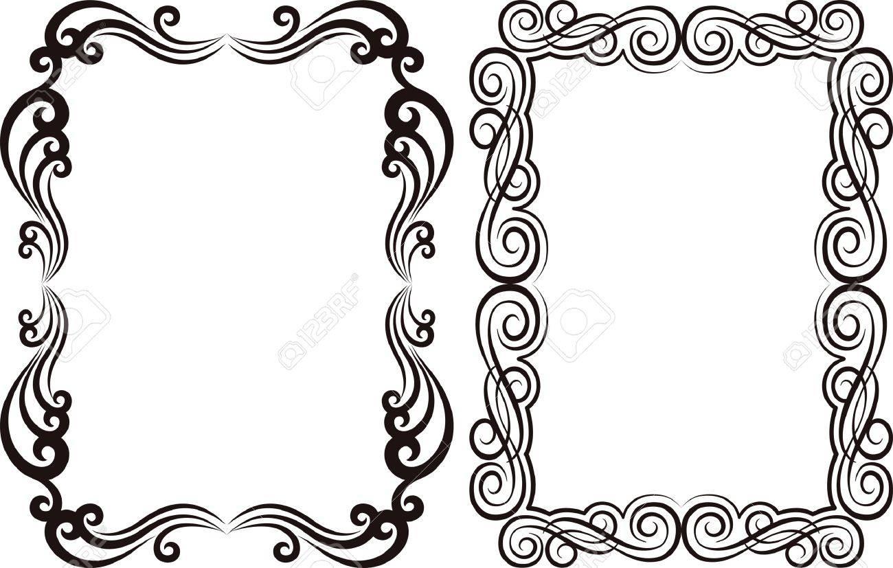 Ornamental Frames Rectangular Royalty Free Cliparts, Vectors, And ...